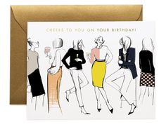 Birthday cards designed by Garance Dore in collaboration with Rifle Paper Co. Bday Cards, Birthday Greeting Cards, Birthday Greetings, Birthday Fashion, Birthday Card Design, Watercolor Fashion, Rifle Paper Co, Watercolor Cards, It's Your Birthday
