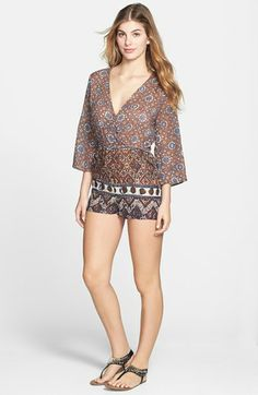 RVCA 'Mizo' Open Back Cotton Romper