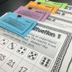 Read this post about simple probability activities for middle school math.