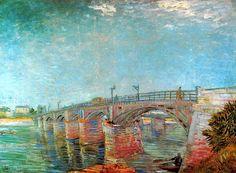 Vincent Van Gogh - Post Impressionism - Paris - Le Pont à Asnières