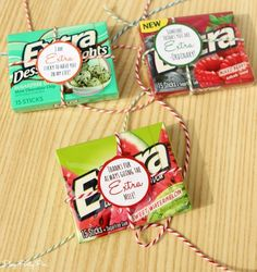 Extra Gum Thank You Gift Ideas and Free Printable Thank You Tags - Play.Plan Such a simple way to thanks to someone who has done a little extra for you this year, with free printable gift tags Staff Gifts, Volunteer Gifts, Nurse Gifts, Teacher Gifts, Nurses Week Gifts, Student Teacher, Student Gifts, Teacher Stuff, Extra Gum
