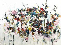 L'essentiel c'est... - Galerie Perreault  #Art #AbstractArt #artist #artwork #artpainting #québec #quebec #quebeccity #GalerieDart Painting, Artwork, Splash Of Colour, How To Paint, Abstract Backgrounds, Toile, Artist, Paint, Work Of Art