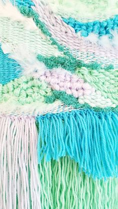 CUSTOM MEDIUM Weaving tapestry wall hanging fibre art  by Odd Kids Out- Design your own with Alana!