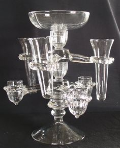 Cambridge Glass Arm Epergne Candelabra *I own this, but it's hard to display...it's huge!