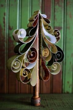quilling Christmas tree paper craft ideas that you will need to learn - handmade craft - Creative 2014 Christmas wood craft patterns you should know ! by maaike_wit