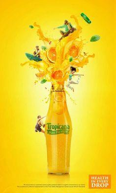 Tropicana juice campaign by icon advertising design fz llc, via behance pub Ads Creative, Creative Advertising, Creative Posters, Print Advertising, Print Ads, Creative Design, Product Advertising, Advertising Ideas, Advertising Campaign
