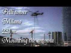 il video del montaggio delo spire dell'Unicredit tower
