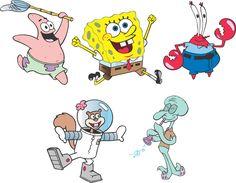 Картинки всех героев мультика спанч боб
