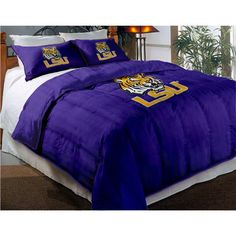 lsu ncaa bedding set - like how this comforter has purple and gold