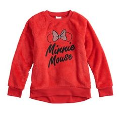 b468303fb3 Disney s Minnie Mouse Girls 4-12 Embroidered Graphic Plush Pullover by Jumping  Beans® Jumping