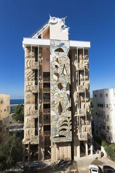 "The ""Crazy House"" Antoni Gaudi style in Tel Aviv photo by Kaśka Sikora #paintings  #sculptures #TelAviv #architecture #Israel #Gaudi  #building"
