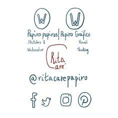 #Sketch50 | Dia 6 – Ícones das minhas Redes Sociais by Rita Caré