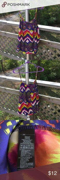 Forever 21 Cami EUC - this colorful cami has adjustable straps Forever 21 Tops Camisoles
