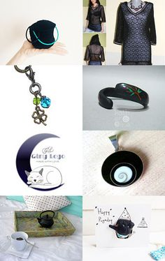 Black with little color, D 15 by Millie Ol on Etsy--Pinned with TreasuryPin.com