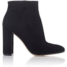 Gianvito Rossi Women s Suede Side-Zip Ankle Boots (15.530 ARS) ❤ liked on.  Botas De Ante NegroBotines ... b75cb885e23