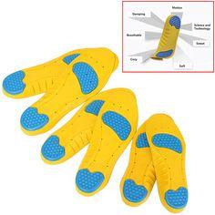 1 Cặp 26.5 cm Bàn Chân Phẳng Dụng Cụ Chỉnh Hình Lót Care Foot đối với Support Plantar Fasciitis Giảm Đau Gót Chân Lót Thể Thao Hấp Thụ Sốc Pads