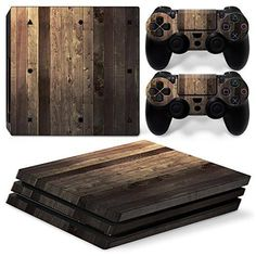 Skin Ps4 Pro Wooden Wood White Texture Limited Edition Vinyl Glossy Decal Sturdy Construction