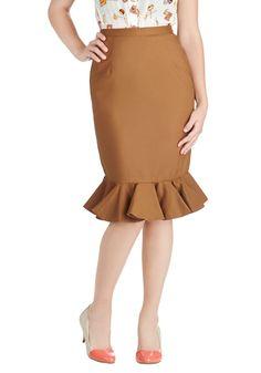 Go for Folk Skirt in Brown | Mod Retro Vintage Skirts | ModCloth.com