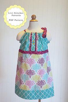 Ella Pillowcase Dress Pattern- Instant Download PDF Childrens Sewing Pattern- Sizes 6-12m 12-18m 18-24m 2 3 4 5 6 7 8 10 12 & Vivian Knot Dress Sewing Pattern Knot Dress Pattern Instant ... pillowsntoast.com
