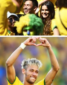 neymar dedicates the goal to his girlfriend bruna Neymar Jr, Football Is Life, Football Players, Bruna Marquezine And Neymar, Neymar Girlfriend, Play Soccer, Fc Barcelona, Most Beautiful Women, Athleisure