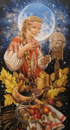Makosh.Slavic goddess of fate.