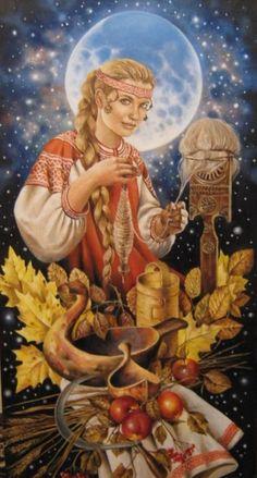 Makosh.Slavic goddess of fate. White Magic, Dark Art, Black Art