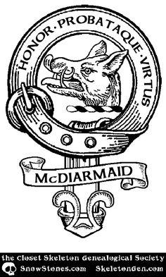 #ClosetSkellies Surname: McDiarmaid