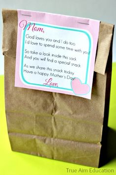 DIY Mother's Day gift from kids - Free Printable