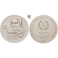 DDR, 20 Mark 1982, Zetkin, st, J. 1587: 20 Mark 1982. Zetkin. J. 1587; stempelfrisch 43,00€ #coins #numismatics