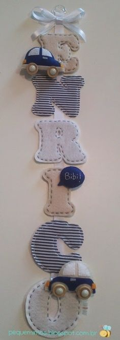 Cute idea that can be adapted to fit any theme Baby Crafts, Felt Crafts, Diy And Crafts, Baby Room Decor, Nursery Decor, Sewing Projects, Projects To Try, Diy Bebe, Baby Mobile
