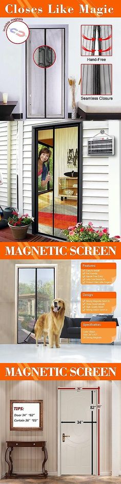 Other Window Accessories 180114: Mag Magnetic Mesh Screen Door 34 Inch    Bug Off Curtain, Black  U003e BUY IT NOW ONLY: $34.73 On EBay!