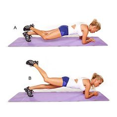 Elbow plank with attitude butt buster - Leg and Butt Workout: Chisel Your Lower Half - Health Mobile