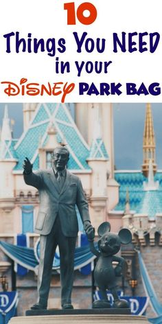 A list of 10 essential items you need to take into a Disney Park with you. Know what to pack into the parks with you!