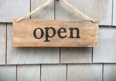 Open/Closed Rustic Window Sign by HomesteadDesign on Etsy