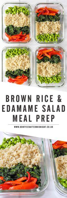 Brown rice & edamame salad (Vegan meal prep)