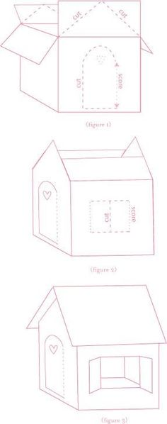 Cats Toys Ideas - How to make a cardboard gingerbread house - Ideal toys for small cats Cardboard Playhouse, Diy Cardboard, Cardboard Box Houses, Cardboard Box Ideas For Kids, Cardboard Castle, Cardboard Furniture, Cardboard Gingerbread House, Gingerbread Cake, Diy For Kids