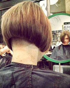 Short Stacked Bobs, Angled Bobs, Inverted Bob, Short Bobs, Stacked Bob Hairstyles, Short Hairstyles For Women, Bob Haircuts, Shaved Bob, Shaved Nape