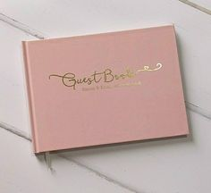 Personalised guest book, luxury wedding guest book, made with real gold foil,silver or rose gold.Book available in dusky pink, navy or white
