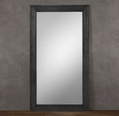 Banded Zinc Leaner Mirror