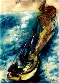 Sailboats by Issachar Ber Ryback