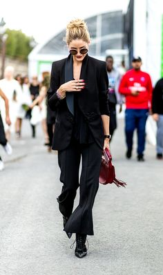 The 9 Black Staples It Girls Have in Their Closets via @WhoWhatWearUK