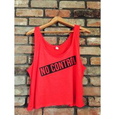 No Control-One Direction Crop Tank-Bella Canvas-Red (22 AUD) ❤ liked on Polyvore featuring tops, shirts, one direction, tank tops, crop tops, black, women's clothing, red crop shirt, boxy shirt and drape shirt