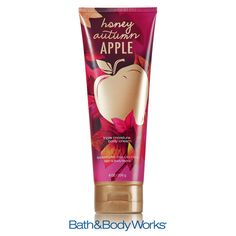 NEW Honey Autumn Apple Triple Moisture Body Cream — leave your skin soft & beautiful with our fresh blend of crisp red apple, sparkling nectarine and a touch of honey! ♥ #LUVBBW
