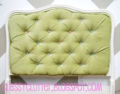 How to make and upholster a tufted headboard! Step by step tutorial anyone can handle!