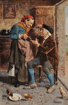 Eugenio Zampighi Italian Painters, Italian Artist, Old Couples, Impressionist Artists, Art World, Love Art, Impressionism, Watercolor Art, Art Pieces