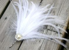 Wedding Feather Hair Piece - Feather Hair Clip Wedding Acessories - Bridal Feather Fascinator - Wedding Hair Piece on Etsy, $18.00