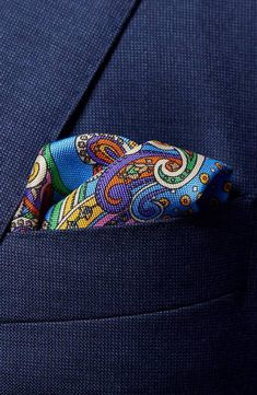 Eton Pure Silk, Pocket Square, Paisley, Nordstrom, Pure Products, Bags, Color, Fashion, Pocket Squares