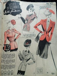 From 1940s Lover's on Facebook 40s Clothing, Love Clothing, Fashion Drawings, Fashion Illustrations, Mode Vintage, Vintage Love, 40s Outfits, 1940s Suit, Make Do And Mend