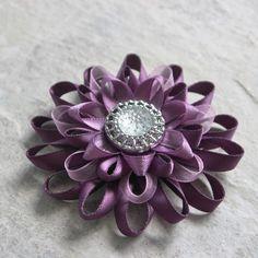 Purple Flower Hair Clip Purple Flower Clip Purple Hair Flower Clip 3 inch Hair Bow Wedding Hair Piece Purple Wedding Flower Hair Clip
