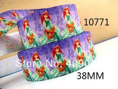 10Y10771 kerryribbon free shipping 1.5 '' polyester printed ribbon Grosgrain ribbon DIY hairbows gift wrapping sewing supplies